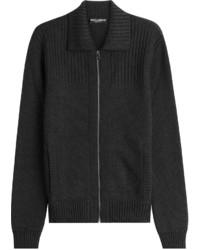 Черный свитер на молнии
