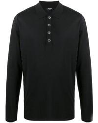 Мужской черный свитер с воротником поло от Balmain