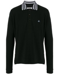 Мужской черный свитер с воротником поло от Vivienne Westwood