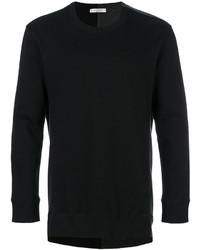 Мужской черный свитер с круглым вырезом с принтом от Valentino