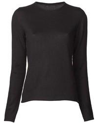 черный свитер с круглым вырезом original 1328379