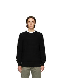 Мужской черный свитер с круглым вырезом от A.P.C.