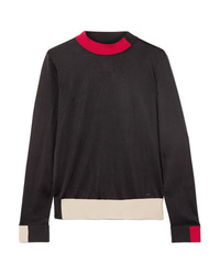Женский черный свитер с круглым вырезом от Akris