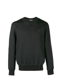 Мужской черный свитер с круглым вырезом от Alexander McQueen
