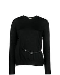 Женский черный свитер с круглым вырезом от Alyx