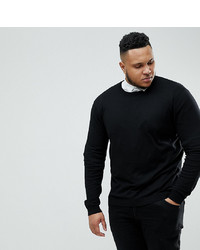 Мужской черный свитер с круглым вырезом от ASOS DESIGN