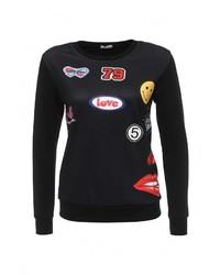 Женский черный свитер с круглым вырезом от Aurora Firenze