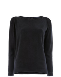Женский черный свитер с круглым вырезом от Avant Toi