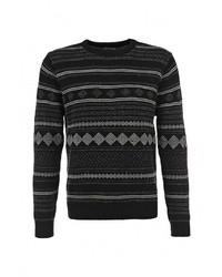 Мужской черный свитер с круглым вырезом от Best Mountain