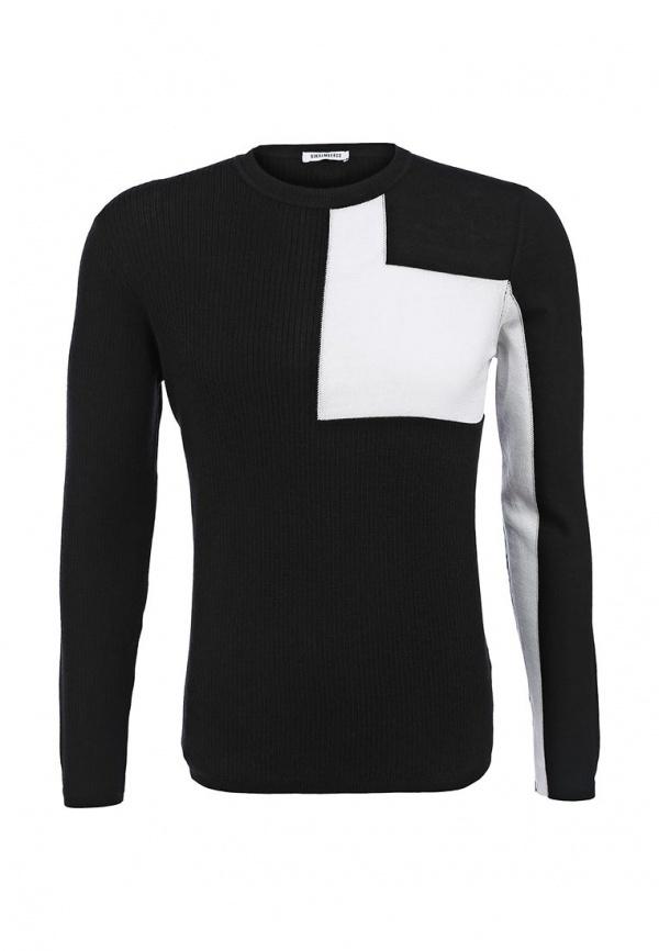 Мужской черный свитер с круглым вырезом от Bikkembergs