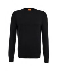 Мужской черный свитер с круглым вырезом от Boss Orange