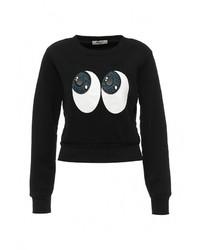 Женский черный свитер с круглым вырезом от Bright Girl