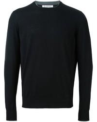 Мужской черный свитер с круглым вырезом от Brunello Cucinelli
