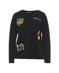 Женский черный свитер с круглым вырезом от By Swan