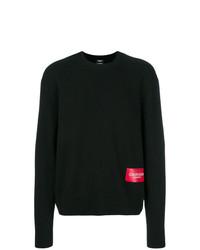 Мужской черный свитер с круглым вырезом от Calvin Klein 205W39nyc