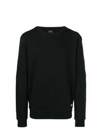 Мужской черный свитер с круглым вырезом от Diesel