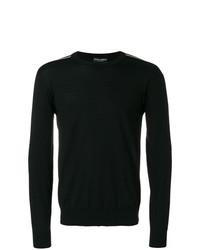 Мужской черный свитер с круглым вырезом от Dolce & Gabbana