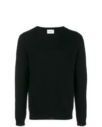 Мужской черный свитер с круглым вырезом от Dondup