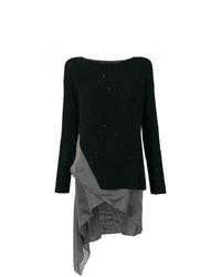 Женский черный свитер с круглым вырезом от Fabiana Filippi