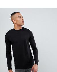 Мужской черный свитер с круглым вырезом от French Connection