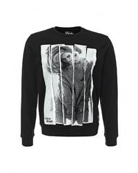 Мужской черный свитер с круглым вырезом от Fresh Brand