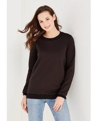 Женский черный свитер с круглым вырезом от GK Moscow