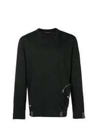 Мужской черный свитер с круглым вырезом от Helmut Lang