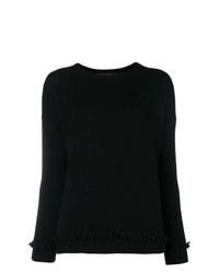 Женский черный свитер с круглым вырезом от Incentive! Cashmere