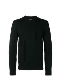 Мужской черный свитер с круглым вырезом от Les Hommes