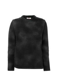 Женский черный свитер с круглым вырезом от Liska