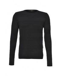 Мужской черный свитер с круглым вырезом от Liu Jo Uomo