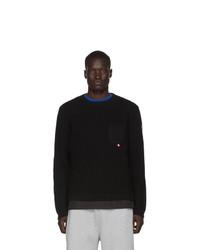 Мужской черный свитер с круглым вырезом от Moncler