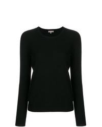 Женский черный свитер с круглым вырезом от N.Peal