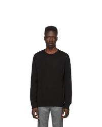 Мужской черный свитер с круглым вырезом от Neil Barrett