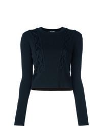 Женский черный свитер с круглым вырезом от Neil Barrett