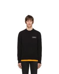 Мужской черный свитер с круглым вырезом от Off-White