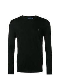 Мужской черный свитер с круглым вырезом от Polo Ralph Lauren