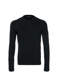 Мужской черный свитер с круглым вырезом от Prada