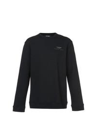 Мужской черный свитер с круглым вырезом от Raf Simons
