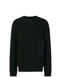 Мужской черный свитер с круглым вырезом от RtA