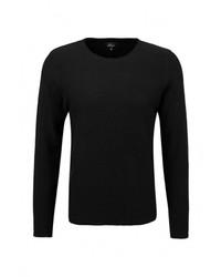 Мужской черный свитер с круглым вырезом от s.Oliver Denim