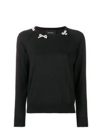 Женский черный свитер с круглым вырезом от Simone Rocha