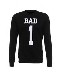 Мужской черный свитер с круглым вырезом от Sixth June