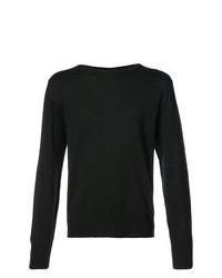 Мужской черный свитер с круглым вырезом от Thom Browne