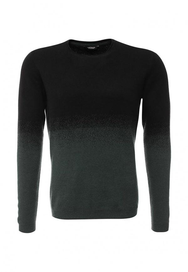 Мужской черный свитер с круглым вырезом от Tom Tailor