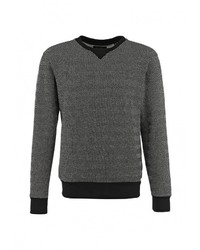 Мужской черный свитер с круглым вырезом от Top Secret