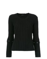 Женский черный свитер с круглым вырезом от Uma Raquel Davidowicz