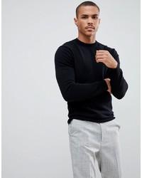 Мужской черный свитер с круглым вырезом от United Colors of Benetton