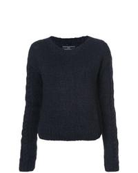 Женский черный свитер с круглым вырезом от Voz