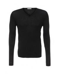 Мужской черный свитер с v-образным вырезом от BeaYukMui